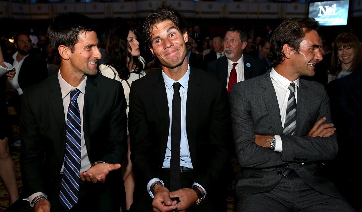 Novac Djokovic, Rafael Nadal y Roger Federer, reyes del circuito de la ATP