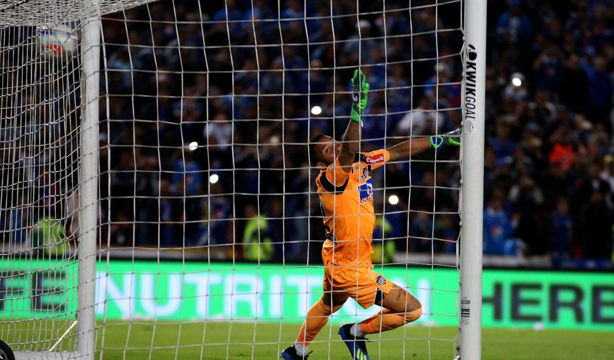 Andrés Cadavid anota el gol del empate de Millonarios ante Junior
