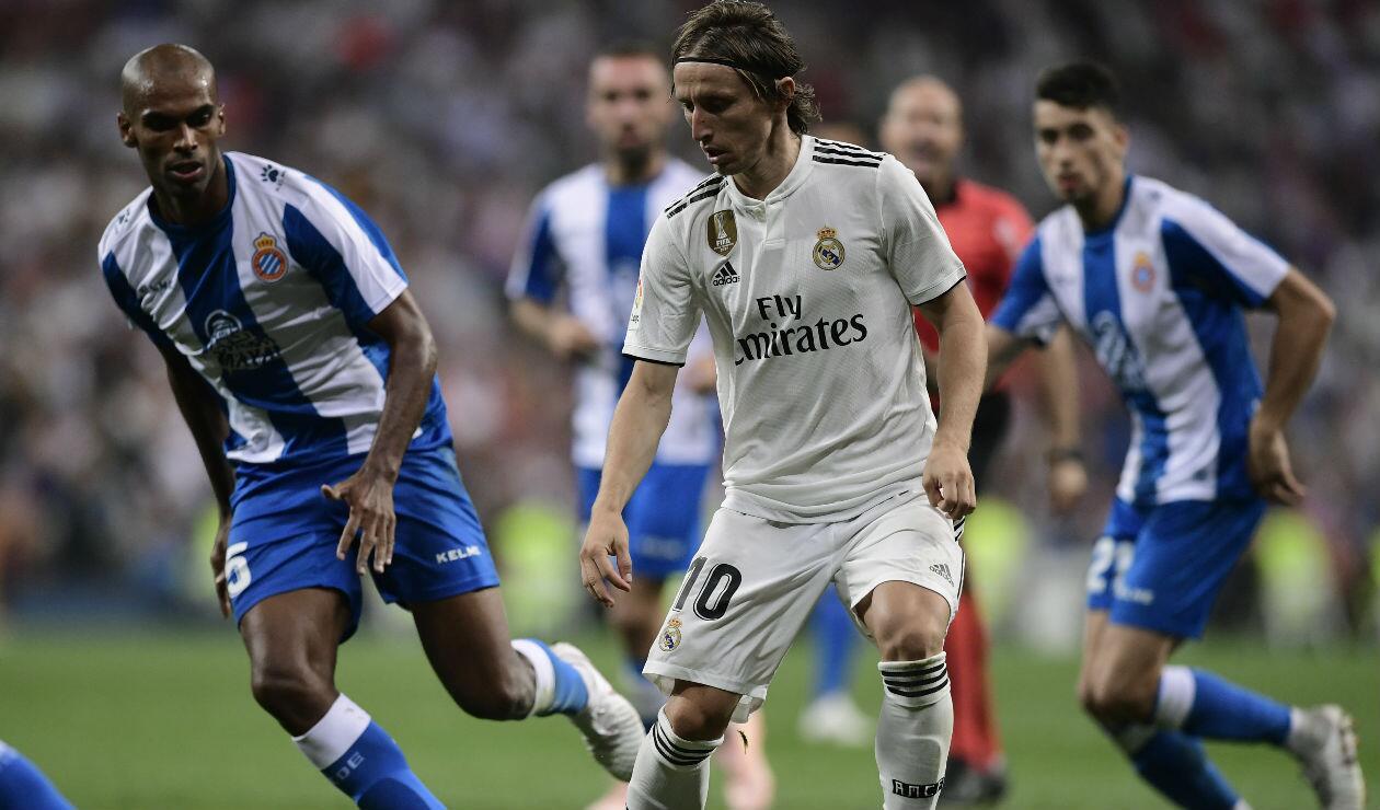 Luka Modric en el juego Real Madrid vs Espanyol