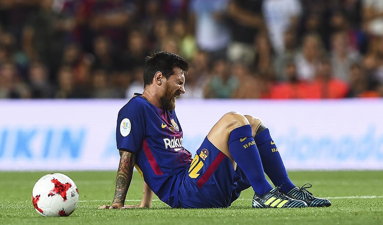 Lionel Messi con cara de decepción