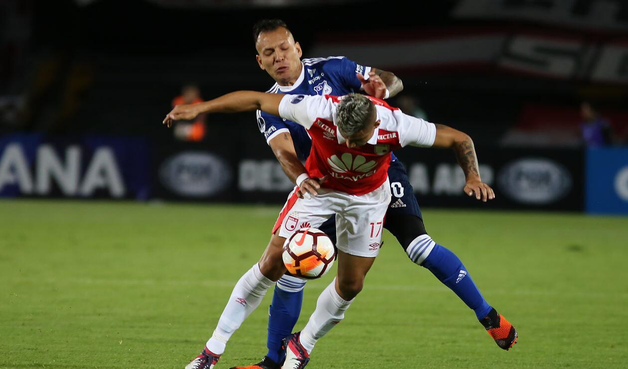 Santa Fe clasificará si empata con goles en el partido de vuelta ante Millonarios