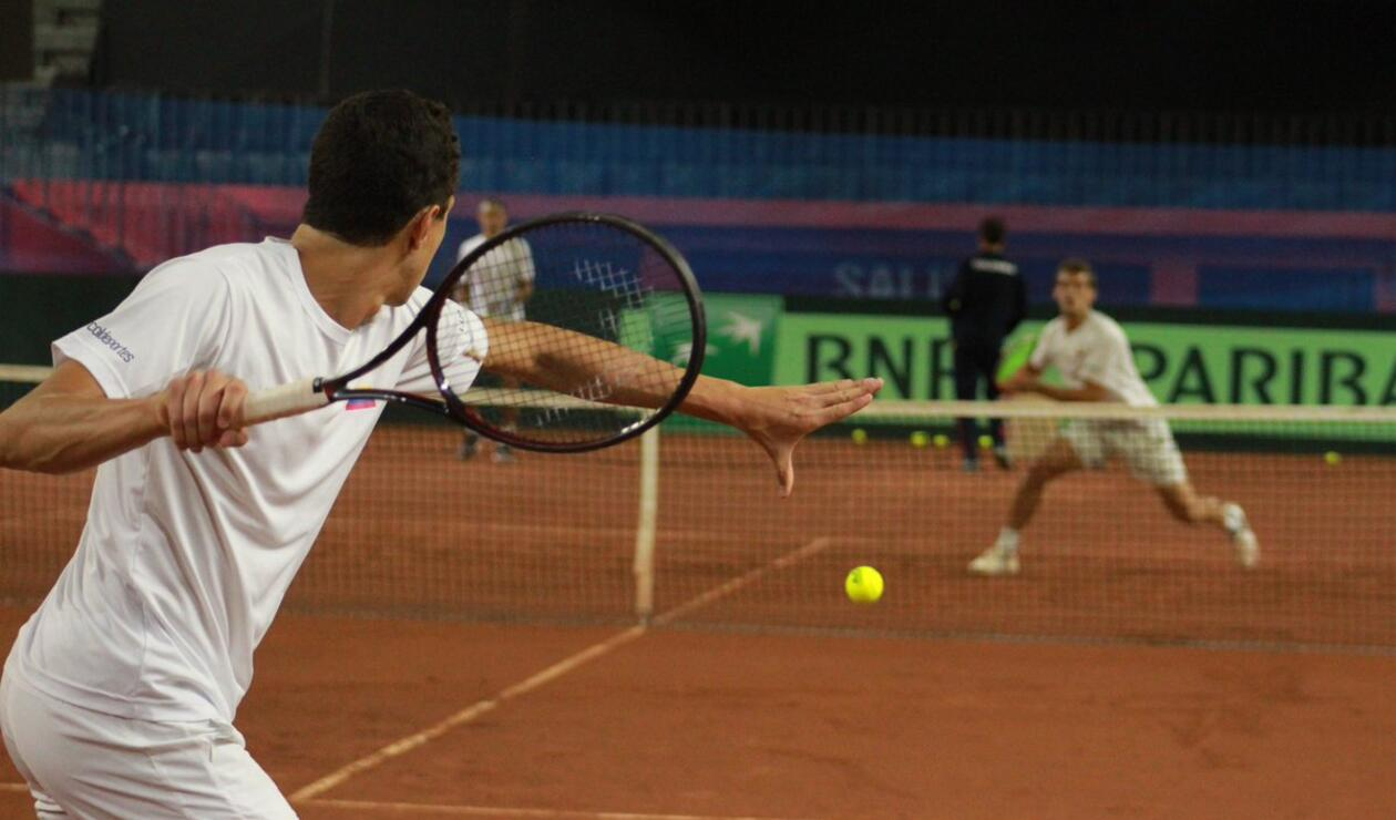 Así entrenan los colombianos para la Copa Davis