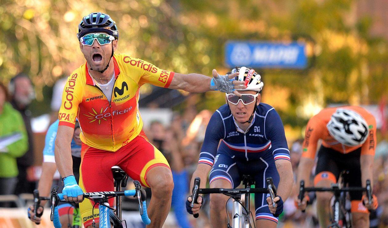 Alejandro Valverde, campeón del mundo de ciclismo 2018, tras varios intentos fallidos