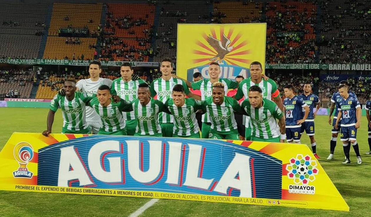 Atlético Nacional en actos protocolarios