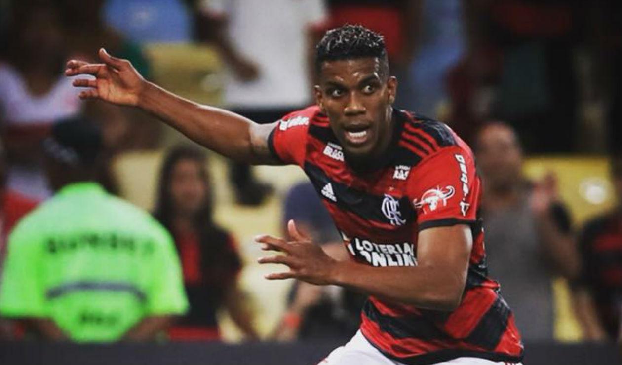 Orlando Berrío, jugador del Flamengo de Brasil