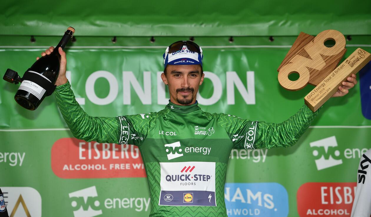 Julian Alaphilippe, del Quick-Step Floors, ganó la Vuelta a Gran Bretaña