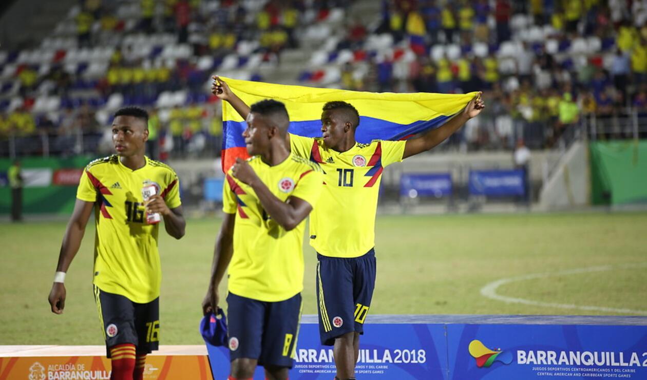 Selección Colombia Sub 21 en los Centroamerianos de Barranquilla 2018
