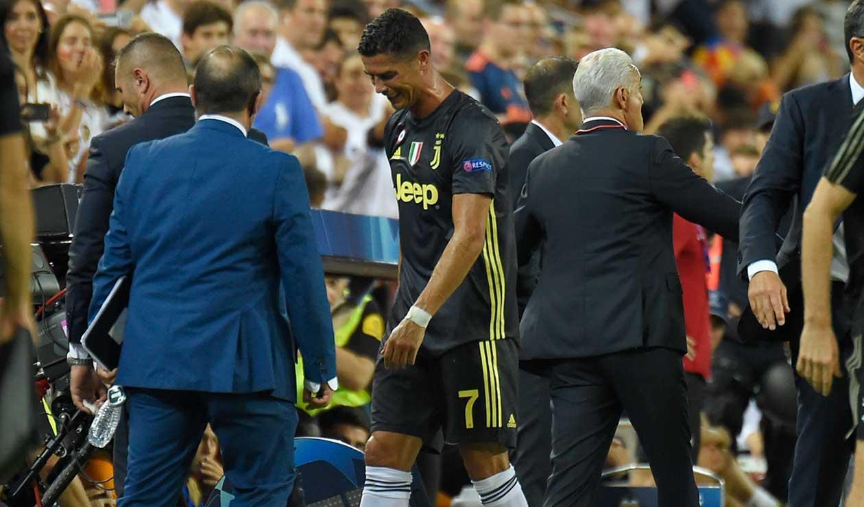 Cristiano Ronaldo es expulsado en su debut de Champions ante el Valencia