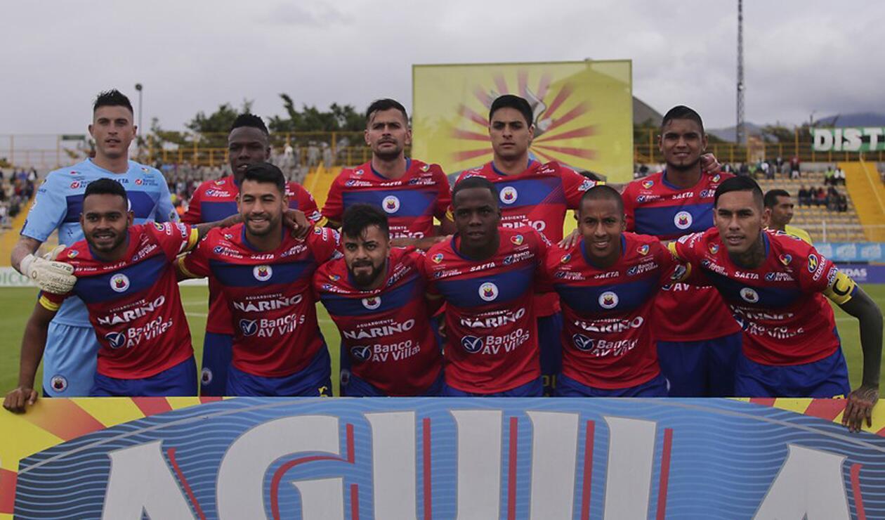 Jugadores del Deportivo Pasto