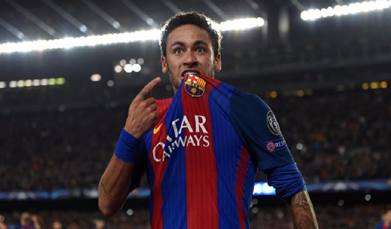 Neymar vistiendo la camiseta del FC Barcelona