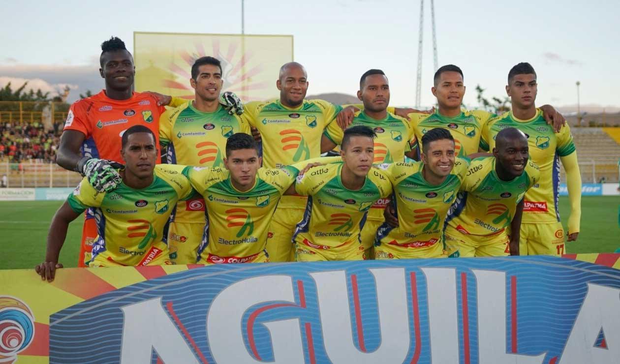 Atlético Huila, equipo que solo ha sumado dos puntos en la actual Liga Águila