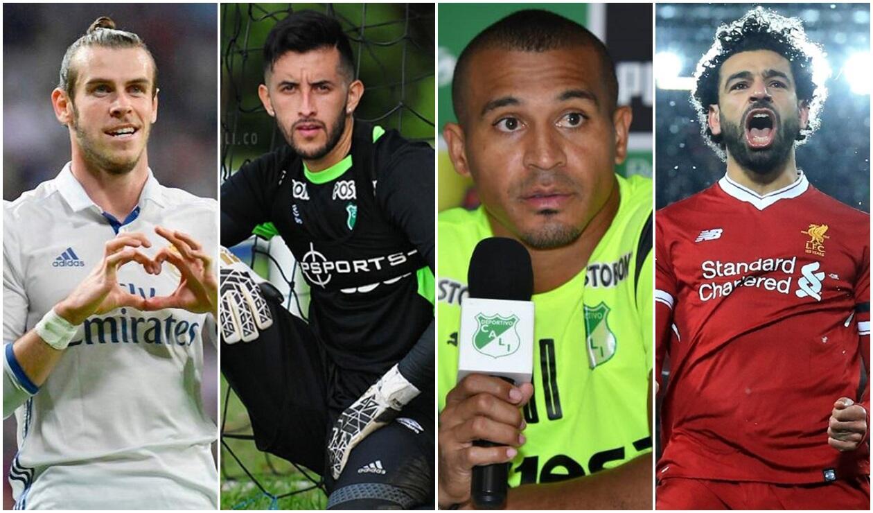 Gareth Bale, Camilo Vargas, Macnelly Torres y Mohamed Salah