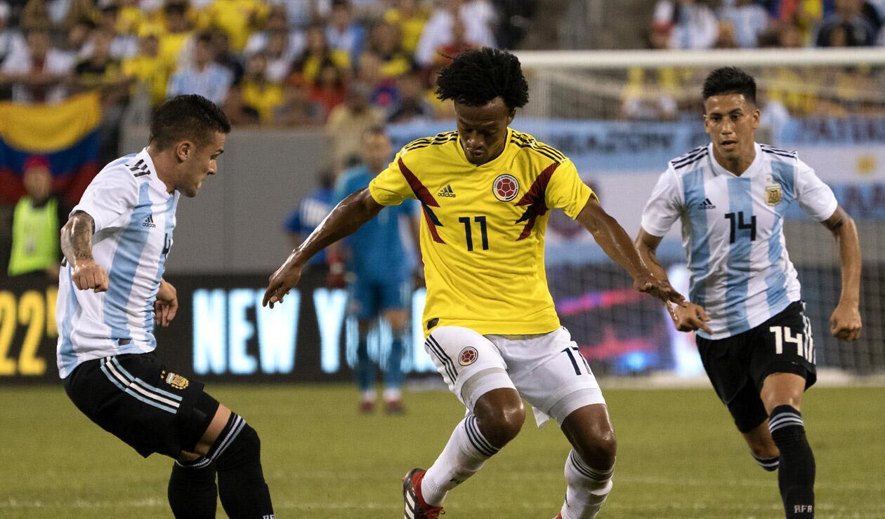 Juan Guillermo Cuadrado, jugador de Colombia ante Argentina
