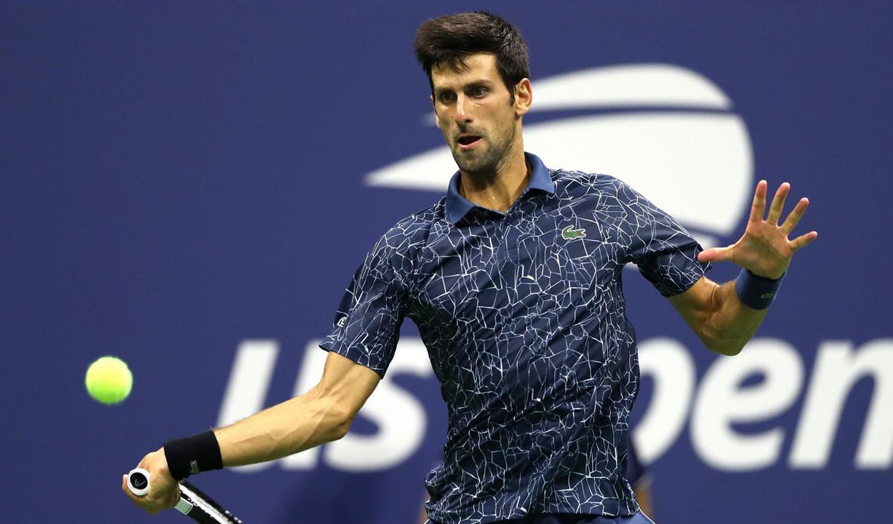 Novak Djokovic en el US Open 2018