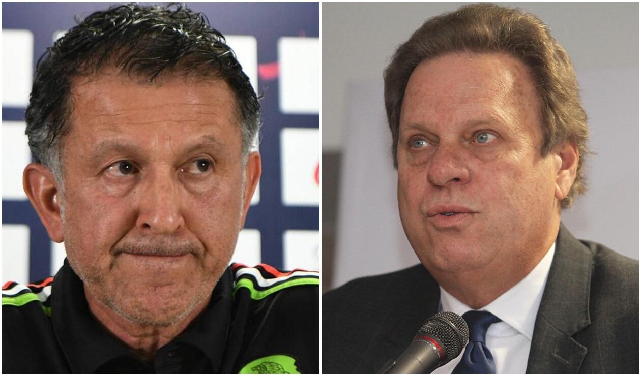 Juan Carlos Osorio, DT de Paraguay y Ramón Jesurún, presidente de la FCF