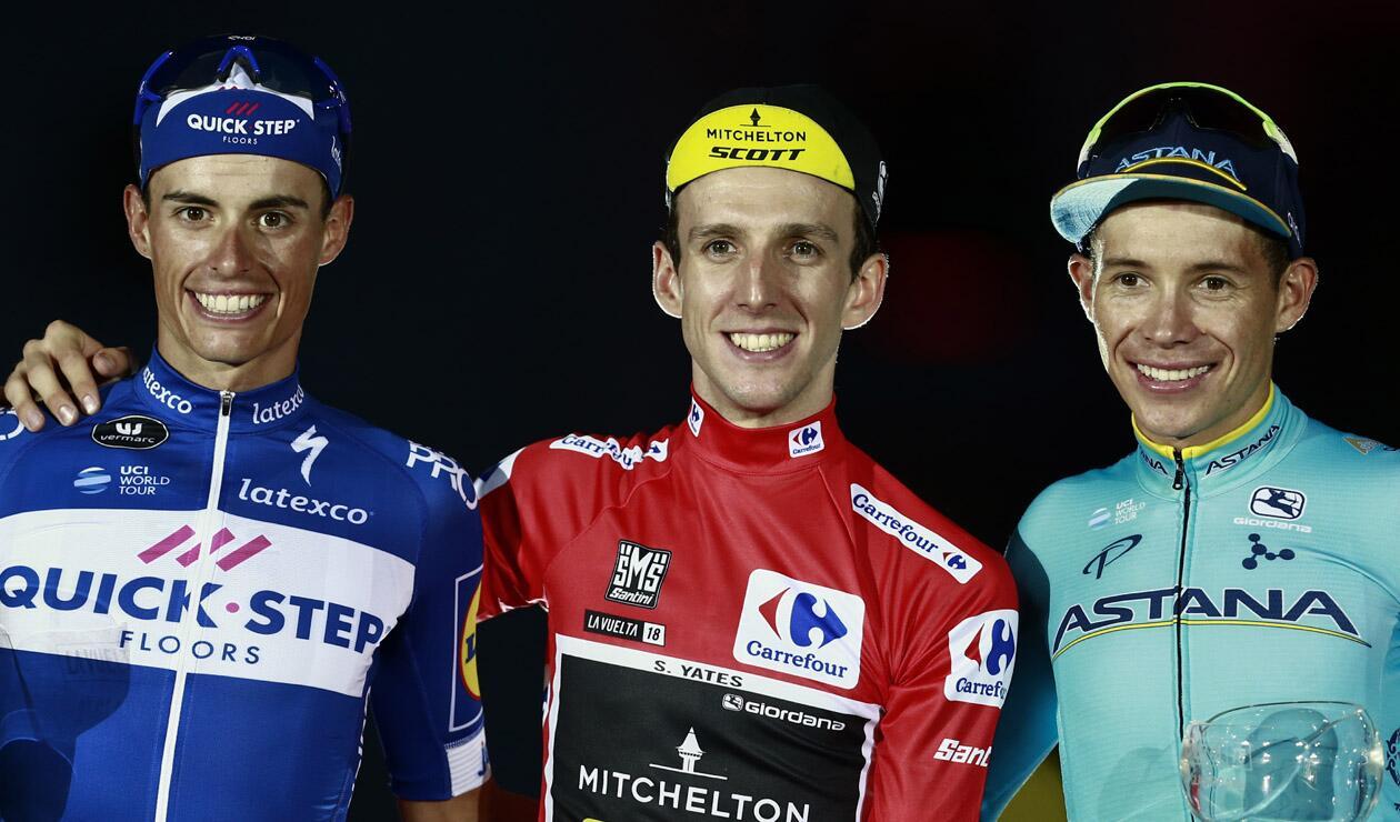 Podio Vuelta a España 2018: Enric Mas, Simon Yates y Miguel Ángel López