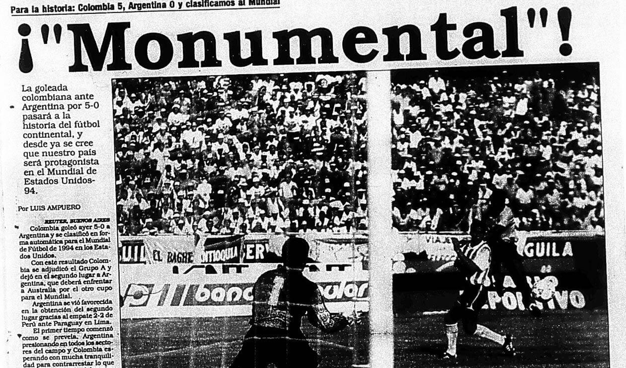El diario Vanguardia Liberal y las reacciones por el triunfo de Colombia ante Argentina 5-0