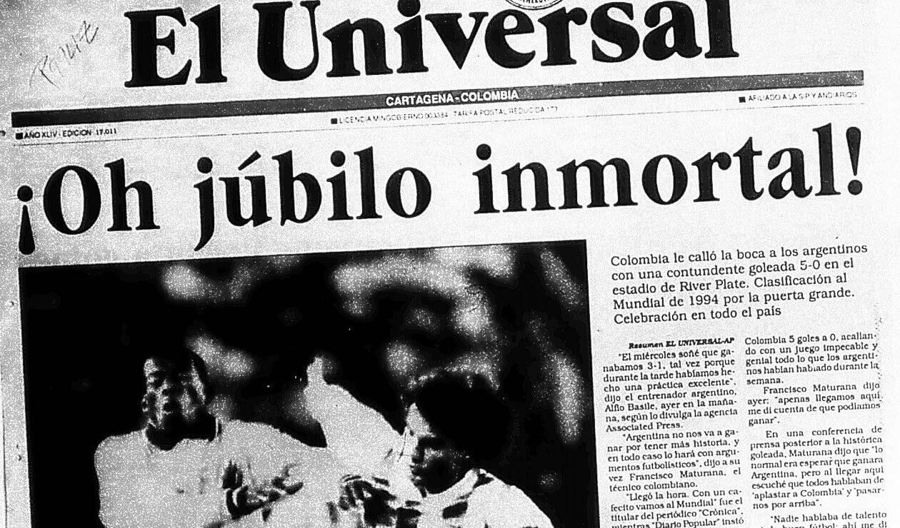 Portada del diario El Universal el 6 de septiembre de 1993