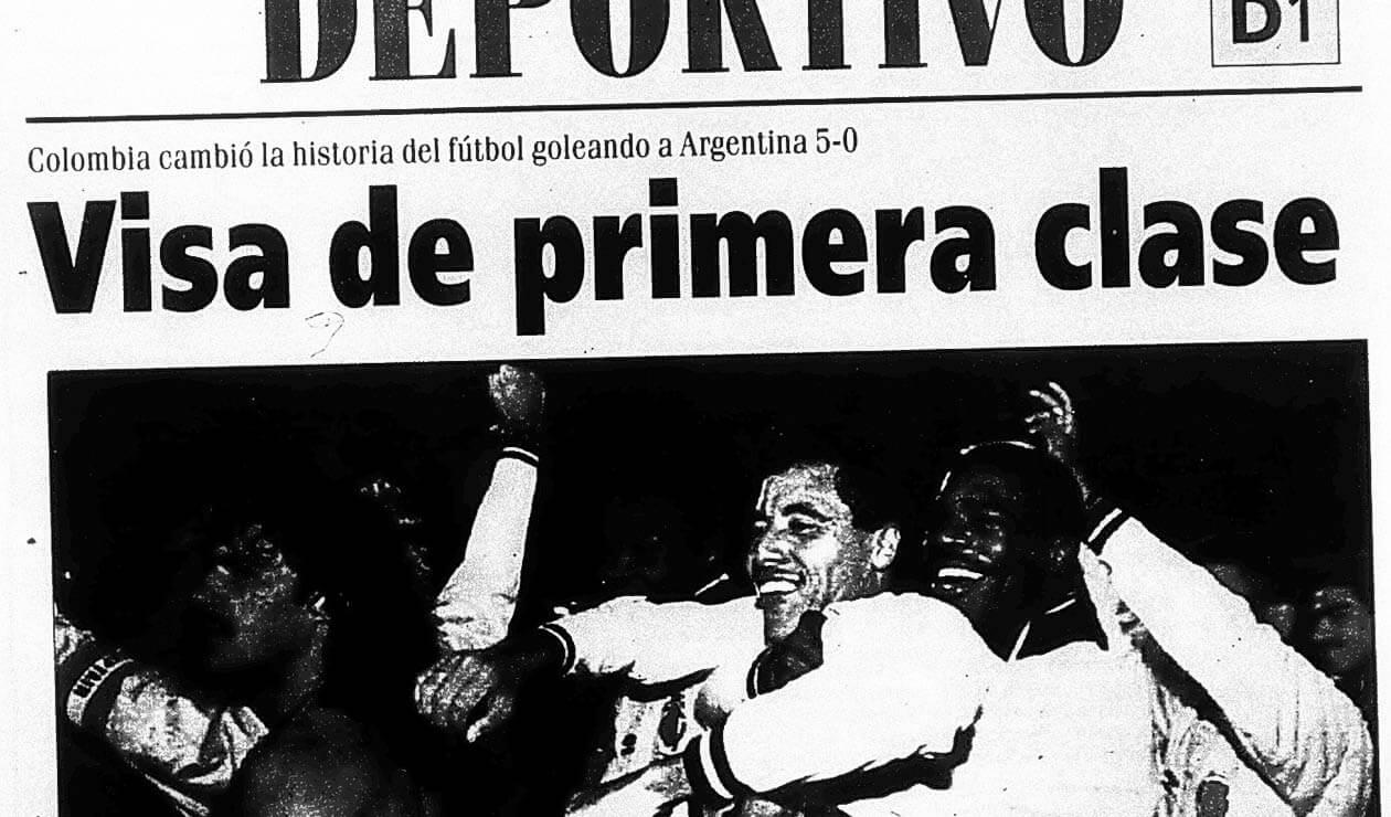 El diario El País y las reacciones por el triunfo de Colombia ante Argentina 5-0