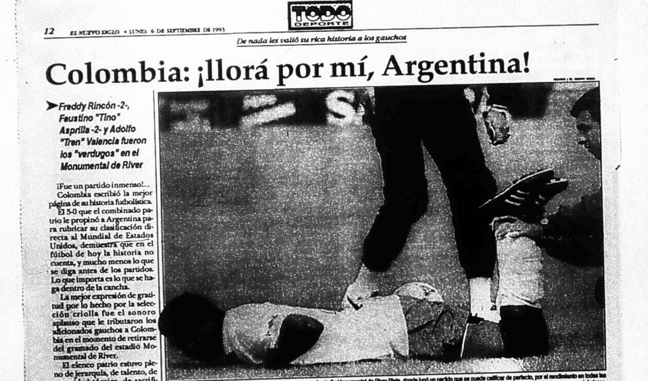 El diario El Nuevo Siglo y las reacciones por el triunfo de Colombia ante Argentina 5-0