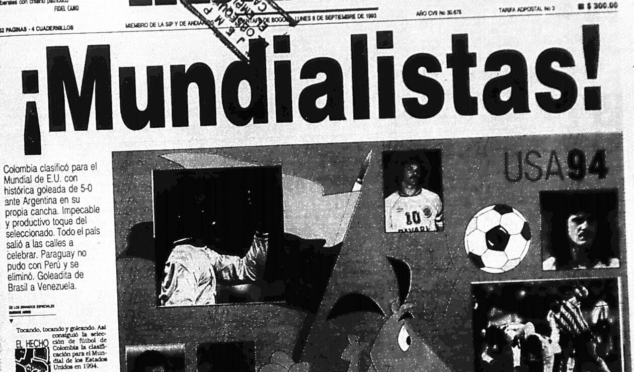 Portada del diario El Espectador el 6 de septiembre de 1993