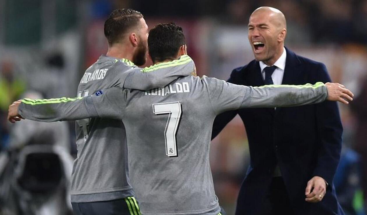 Sergio Ramos, Cristiano y Zidane