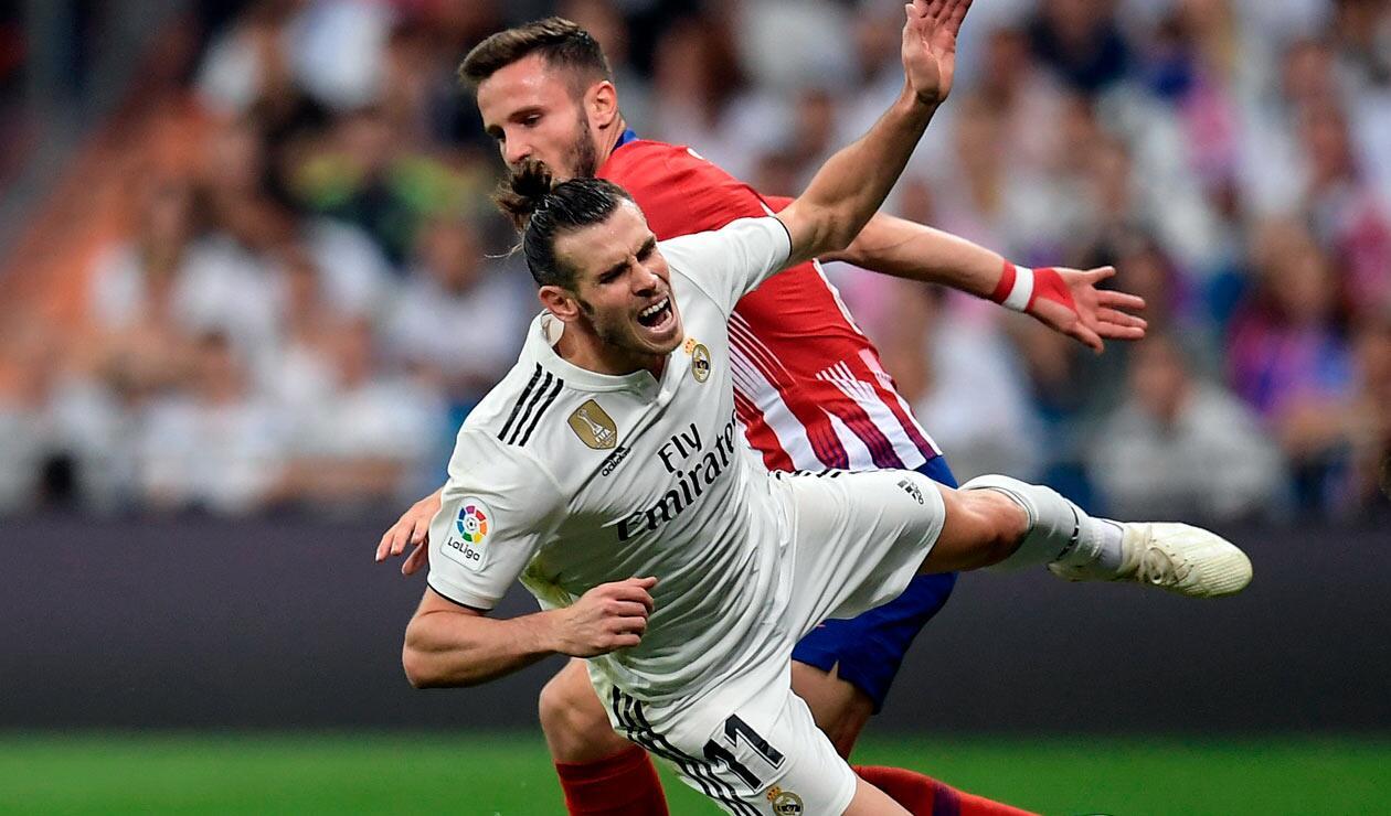 Gareth Bale salió lesionado en el partido donde Real Madrid empató 0-0 ante el Atlético de Madrid