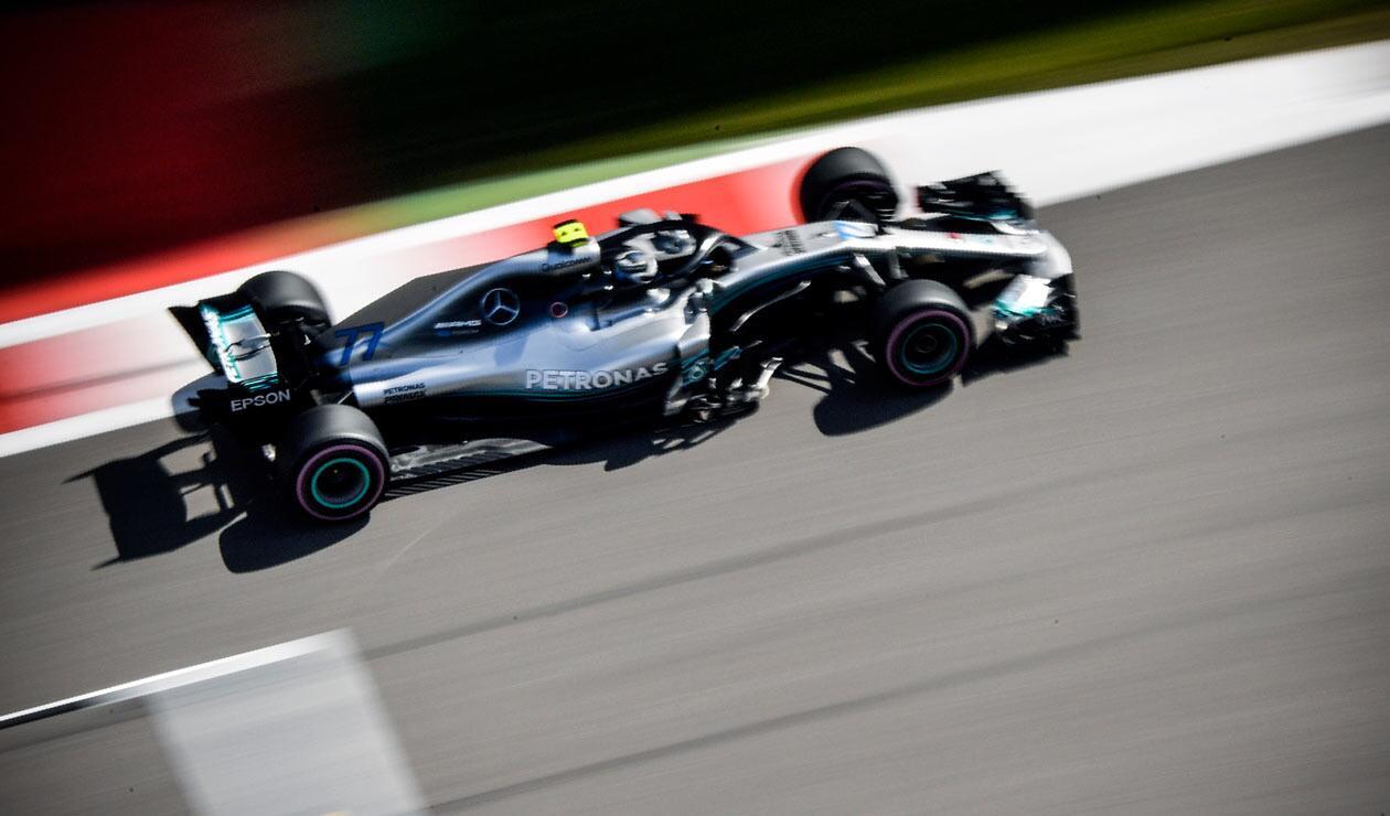 Valteri Bottas (Mercedes) durante la clasificación del Gran Premio de Rusia 2018