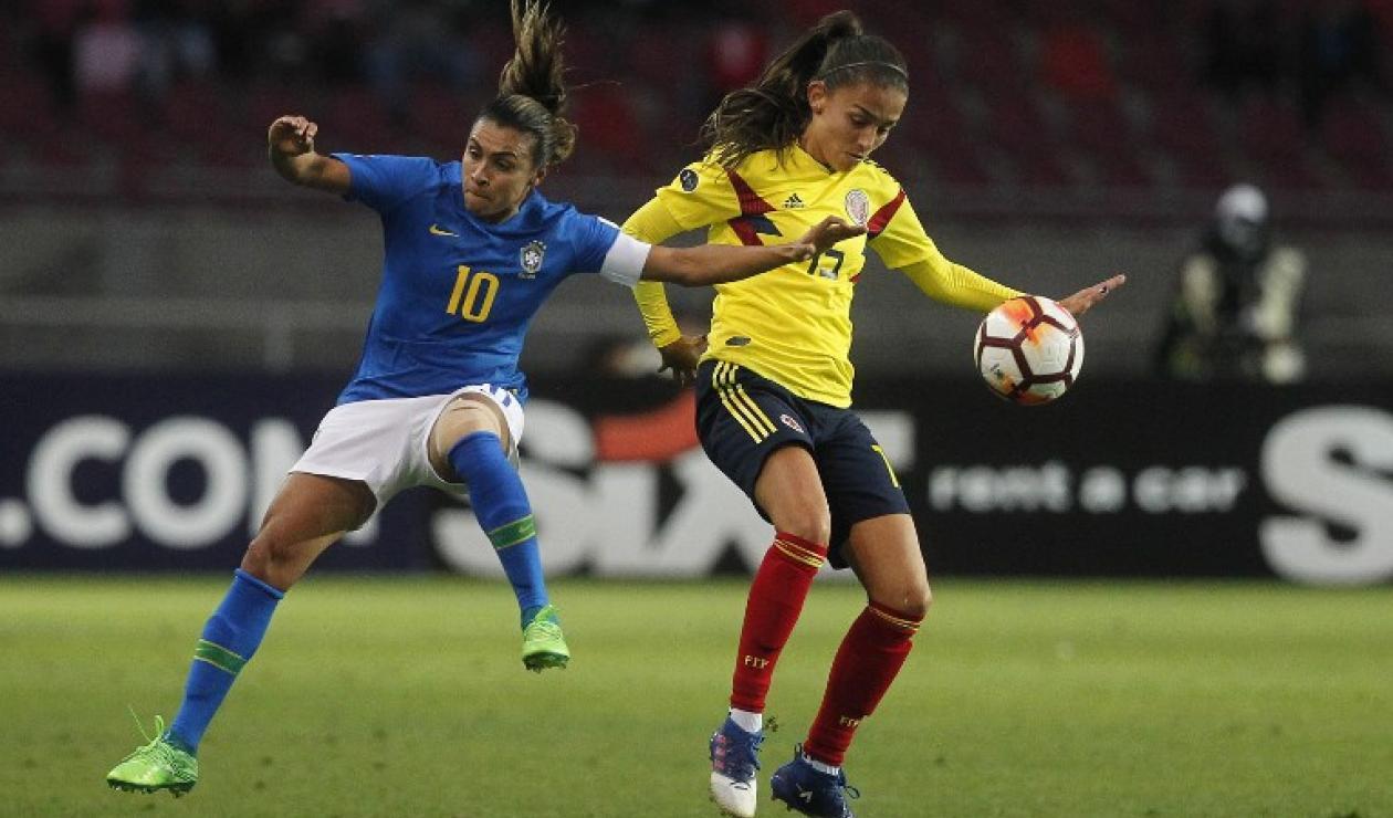 Brasil vs Colombia en fútbol femenino