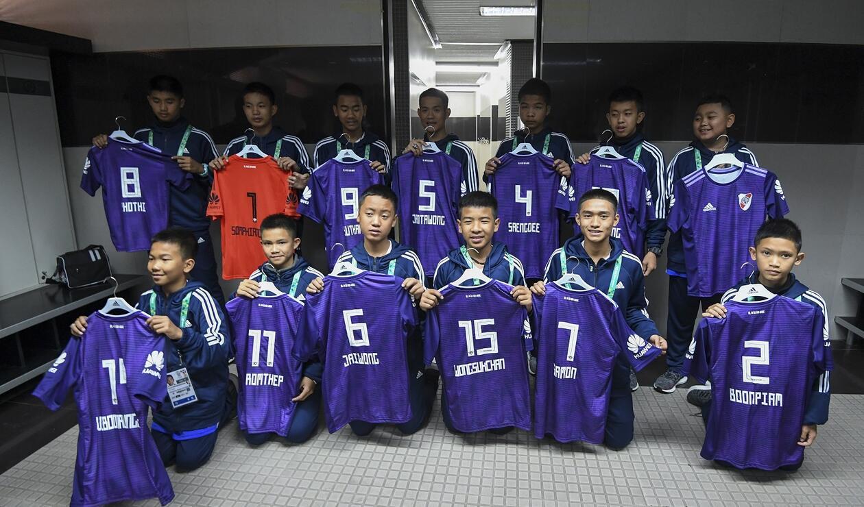 Niños rescatados de Tailandia