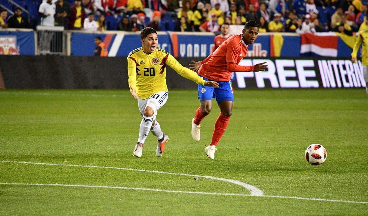 Colombia tuvo el control del balón, pero Costa Rica complicó en defensa