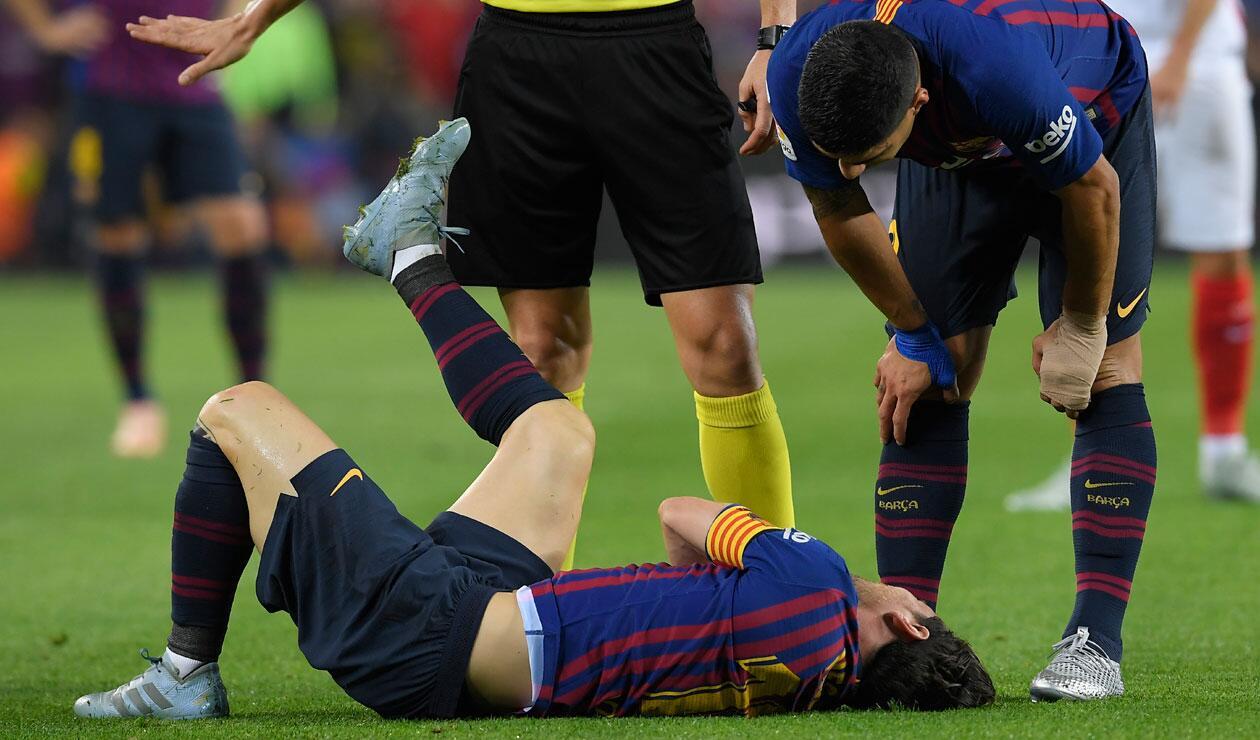 Messi había anotado uno de los goles del Barcelona ante el Sevilla en el Camp Nou