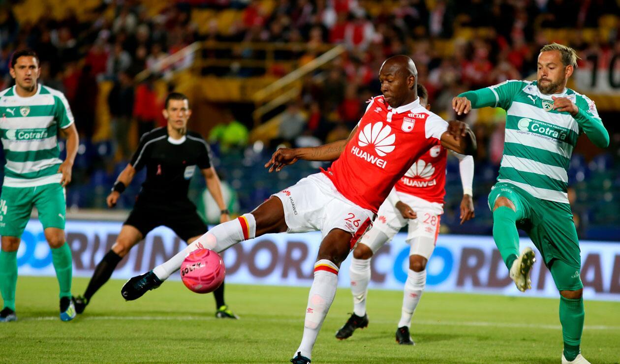 Santa Fe quedó en una posición crítica para lograr la clasificación en la Liga Águila