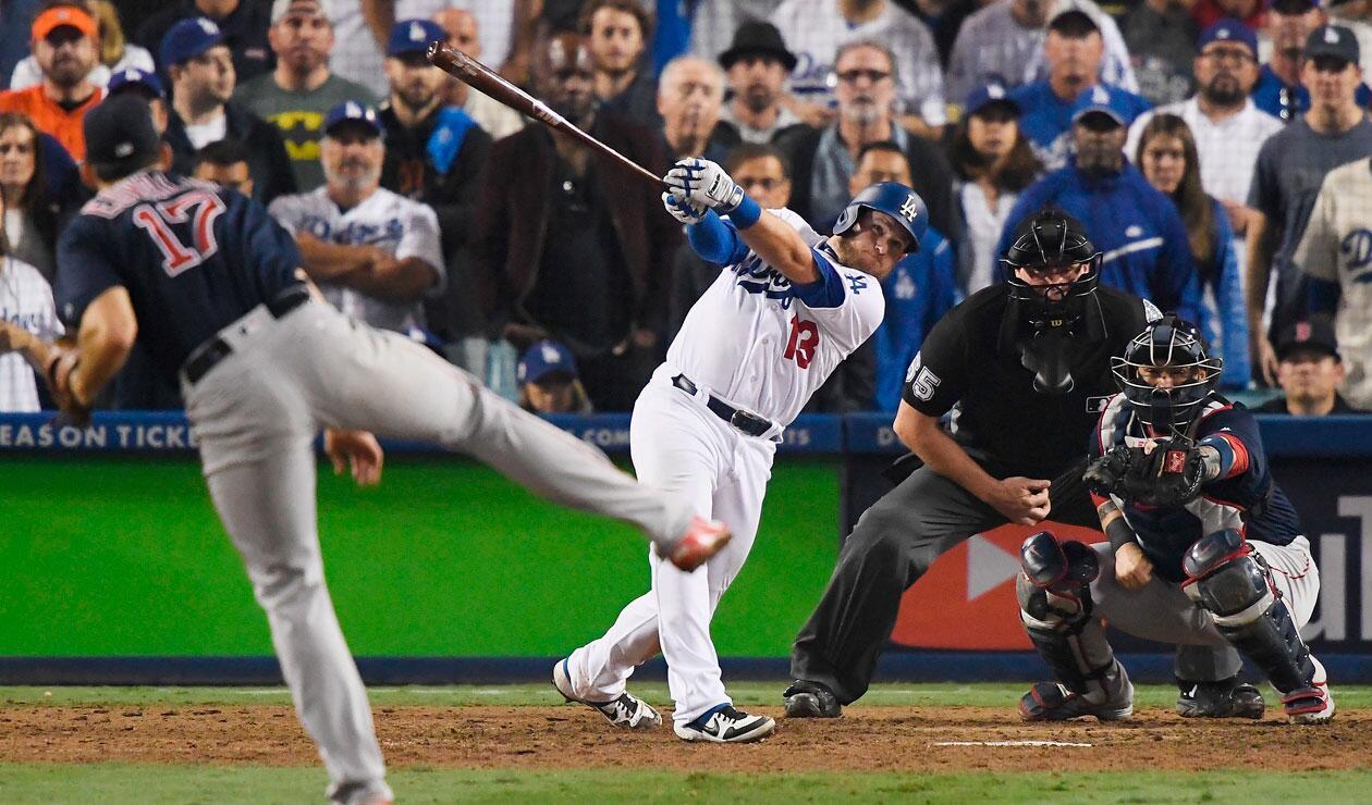 Max Muncy conecta un jonrón para el triunfo de Dodgers ante Medias Rojas de Boston