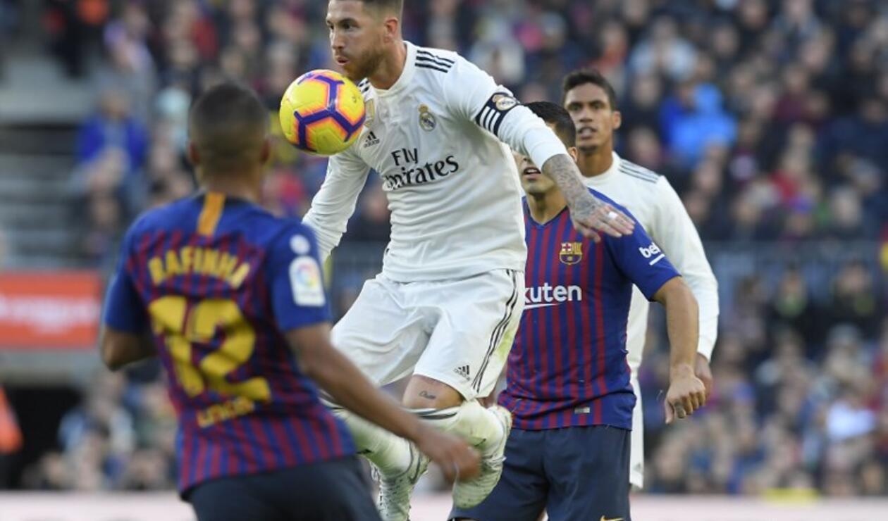 Sergio Ramos, líder de la defensa del Real Madrid ante el Barcelona en el Camp Nou