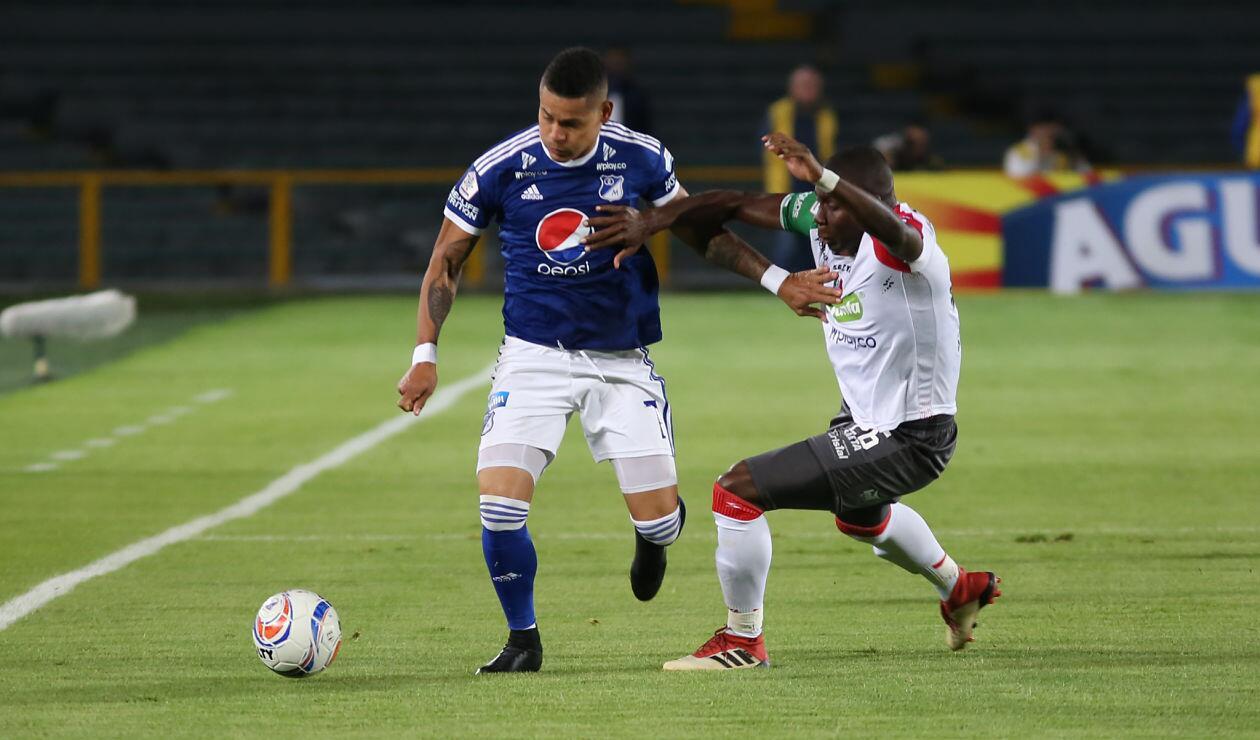 Millonarios venía de quedar eliminado en la Copa Sudamericana frente a Santa Fe