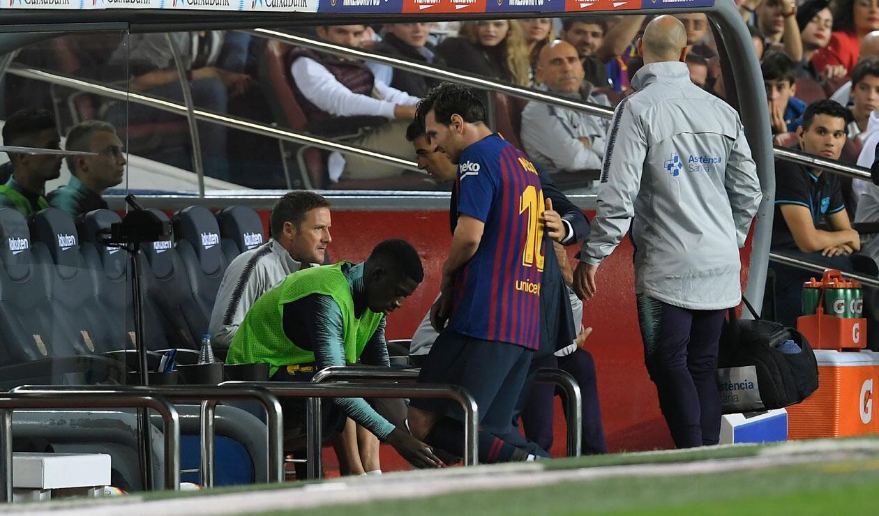 Messi salió con evidentes problemas físicos en el partido ante Sevilla