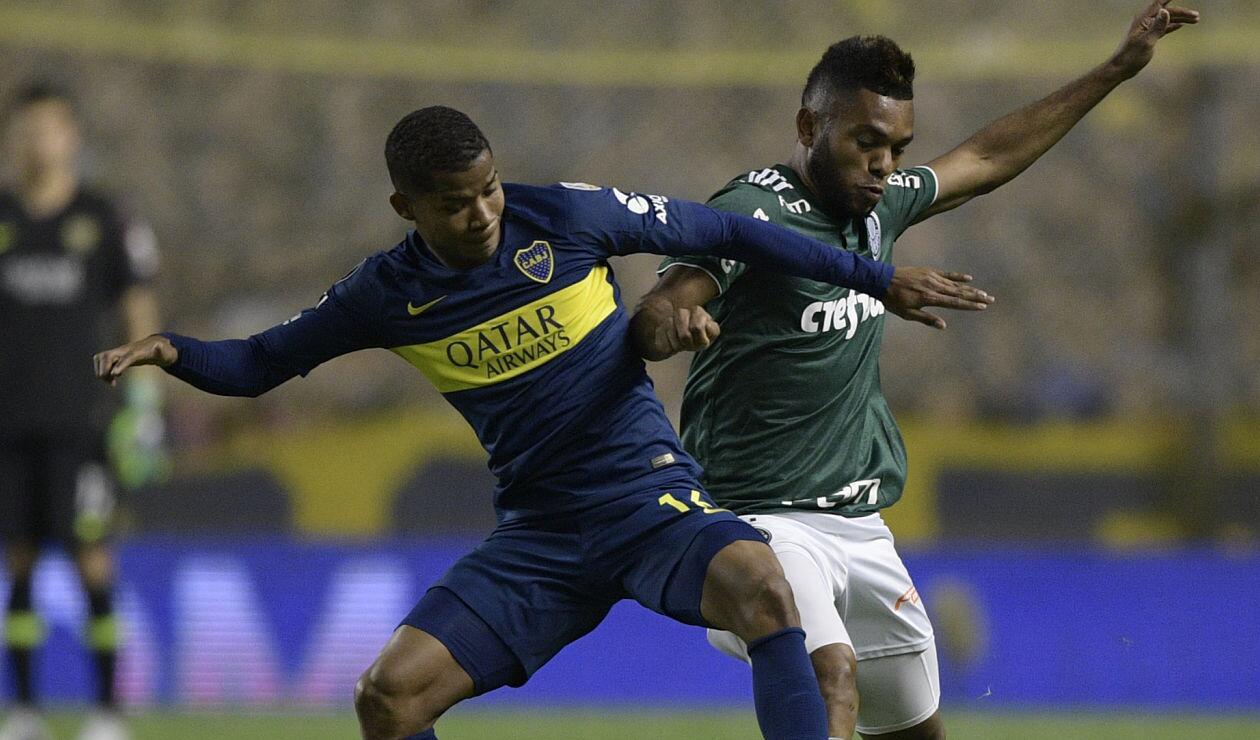 Wílmar Barrios y Miguel Borja en Copa Libertadores