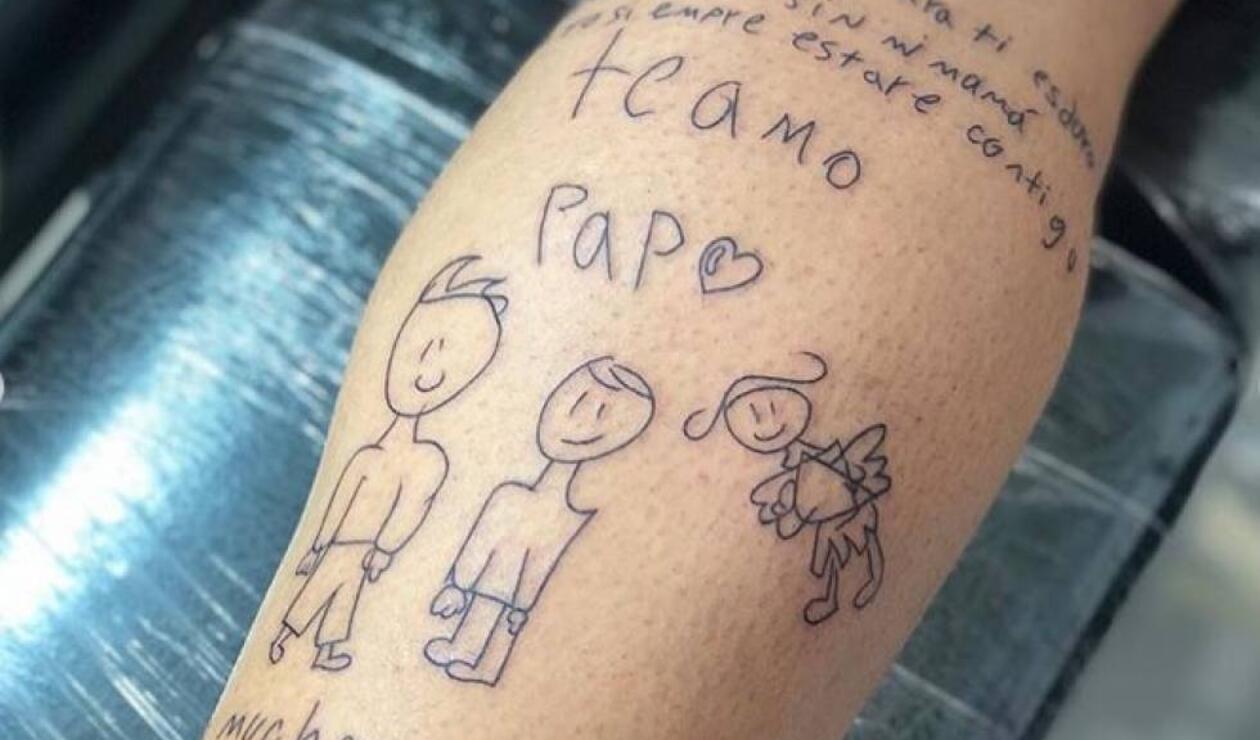 El tatuaje de Luis Delgado que emocionó a las redes sociales