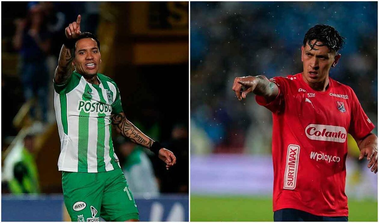 Dayro Moreno y Germán Cano, duelo de goleadores entre Medellín vs Nacional.