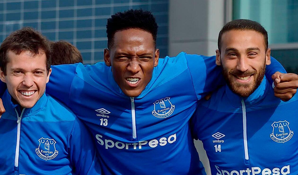 Yerry Mina tendría minutos ante Crystal Palace con el Everton