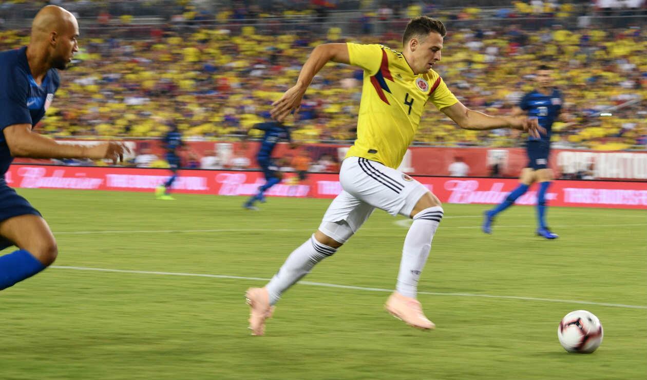 Santiago Arias, uno de los jugadores destacados de Colombia ante Estados Unidos
