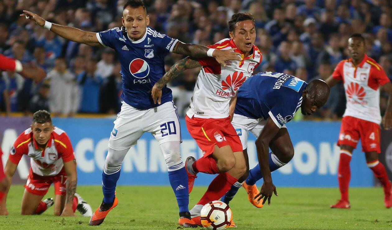 En el partido de ida, Millonarios y Santa Fe empataron 0-0 · Copa Sudamericana 2018