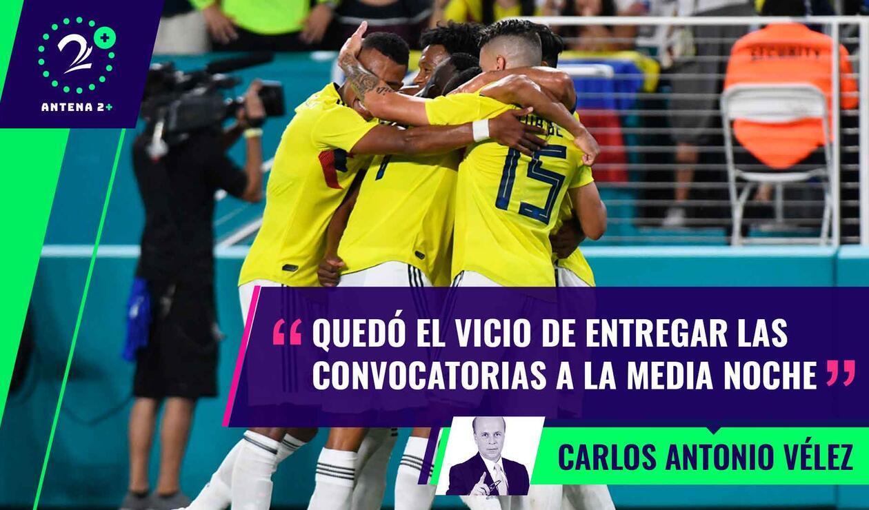Carlos Antonio Vélez criticó la convocatoria de la Selección Colombia