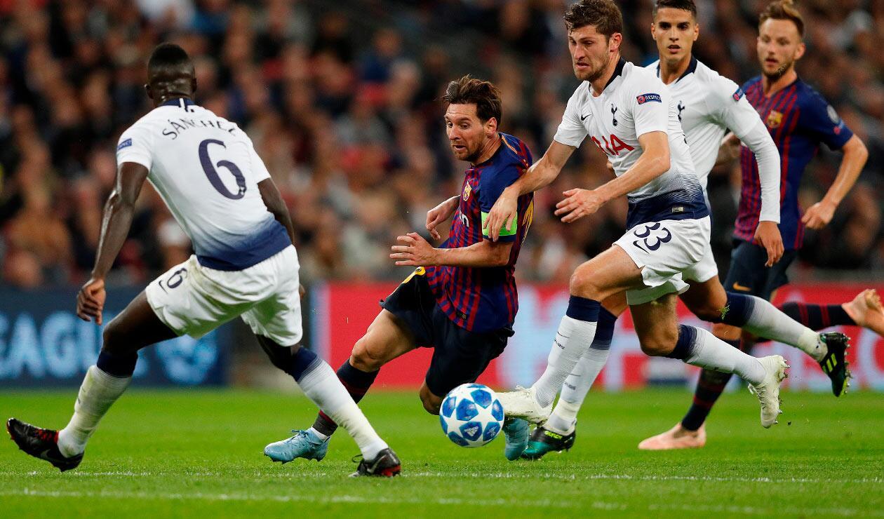Dávinson Sánchez intento marcar a Messi, la figura del partido