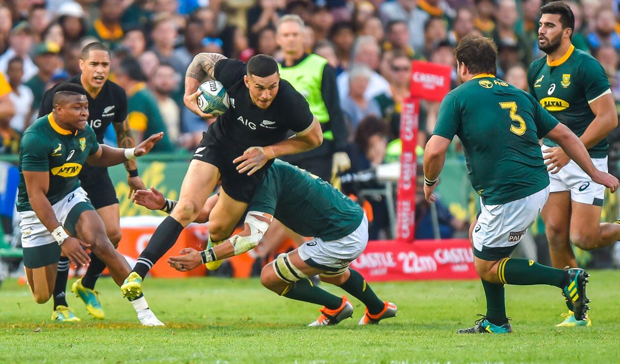 Sudáfrica cayó frente a los All Blacks de Nueva Zelanda como visitante