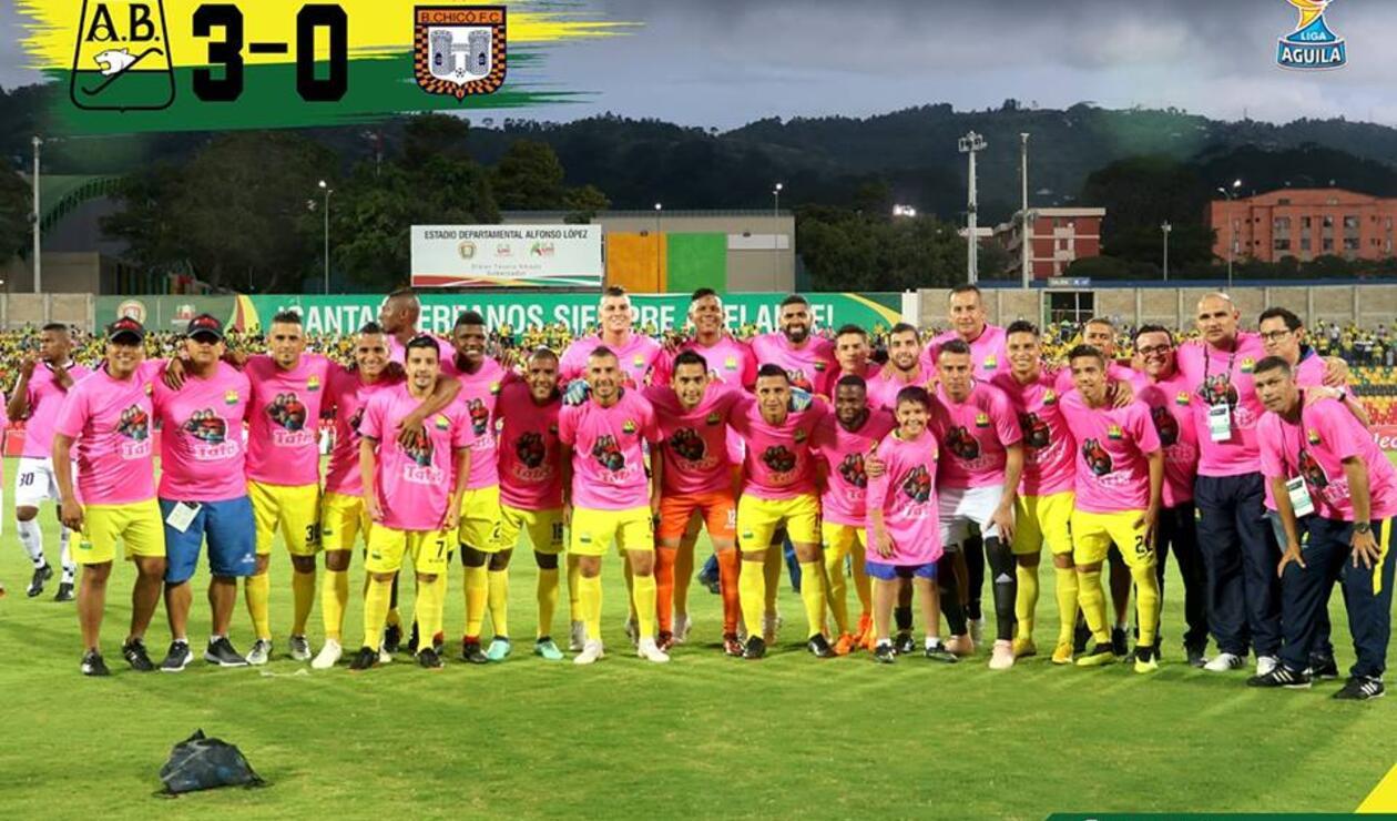 Atlético Bucaramanga contra el cáncer de seno
