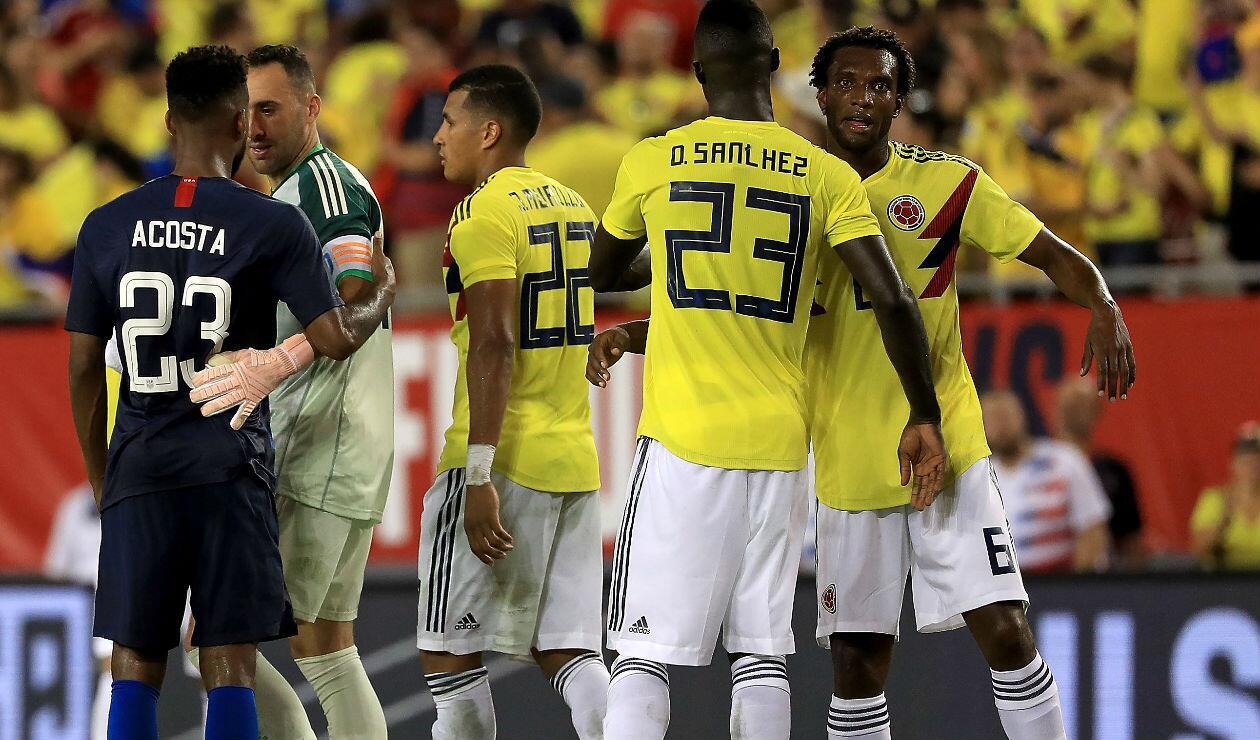 Selección Colombia ante Estados Unidos en la fecha FIFA