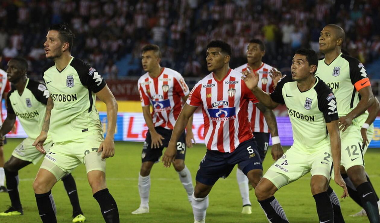 Junior vs Atlético Nacional en la Copa Águila