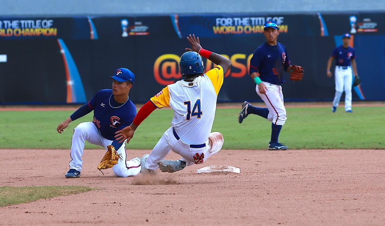 Colombia en el partido que perdió frente a China Taipei